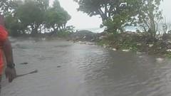 Cyclone Tino underway, Tuvalu, January 2020