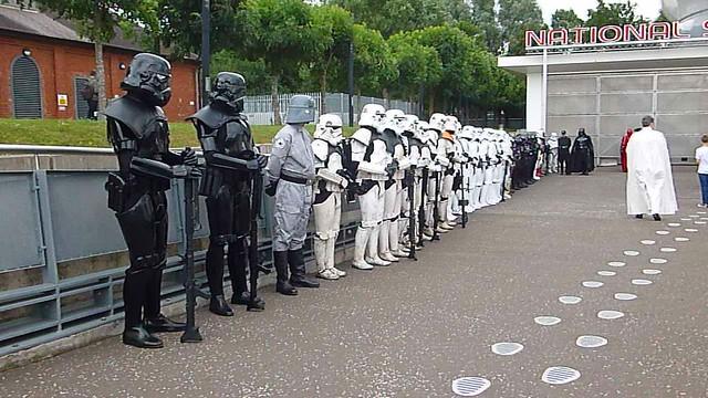 Darth Vader inspects the U.K.Garrison