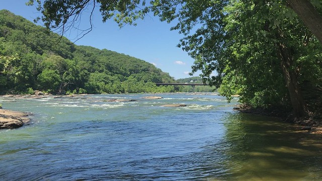 Shenandoah River from Virginius Island, Harpers Ferry, West Virginia