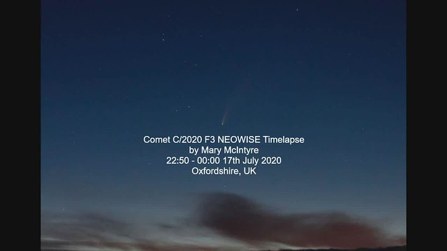 Comet C/2020 F3 NEOWISE Timelapse 17/07/20
