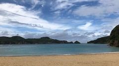 Wakamiyajima Island (left) is a military installation