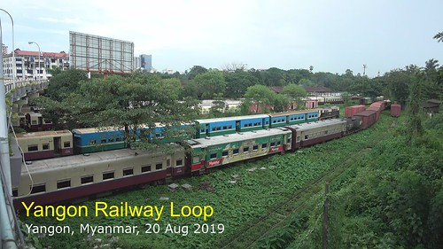 yangon myanmar video sonyrx100iv olympustg5 monsoon summer loopline commutertrain railway rangoon burma landscape august asia green southeastasia