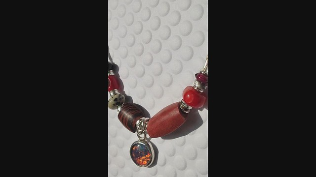 red opal triplet necklace finished