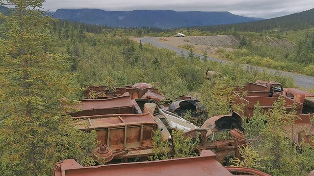 Canol Road Northern Section.  Yukon Territory, Canada.  Abandoned U.S. Army Equipment.