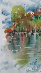 Watercolor art by MArt, Marie Andersson art
