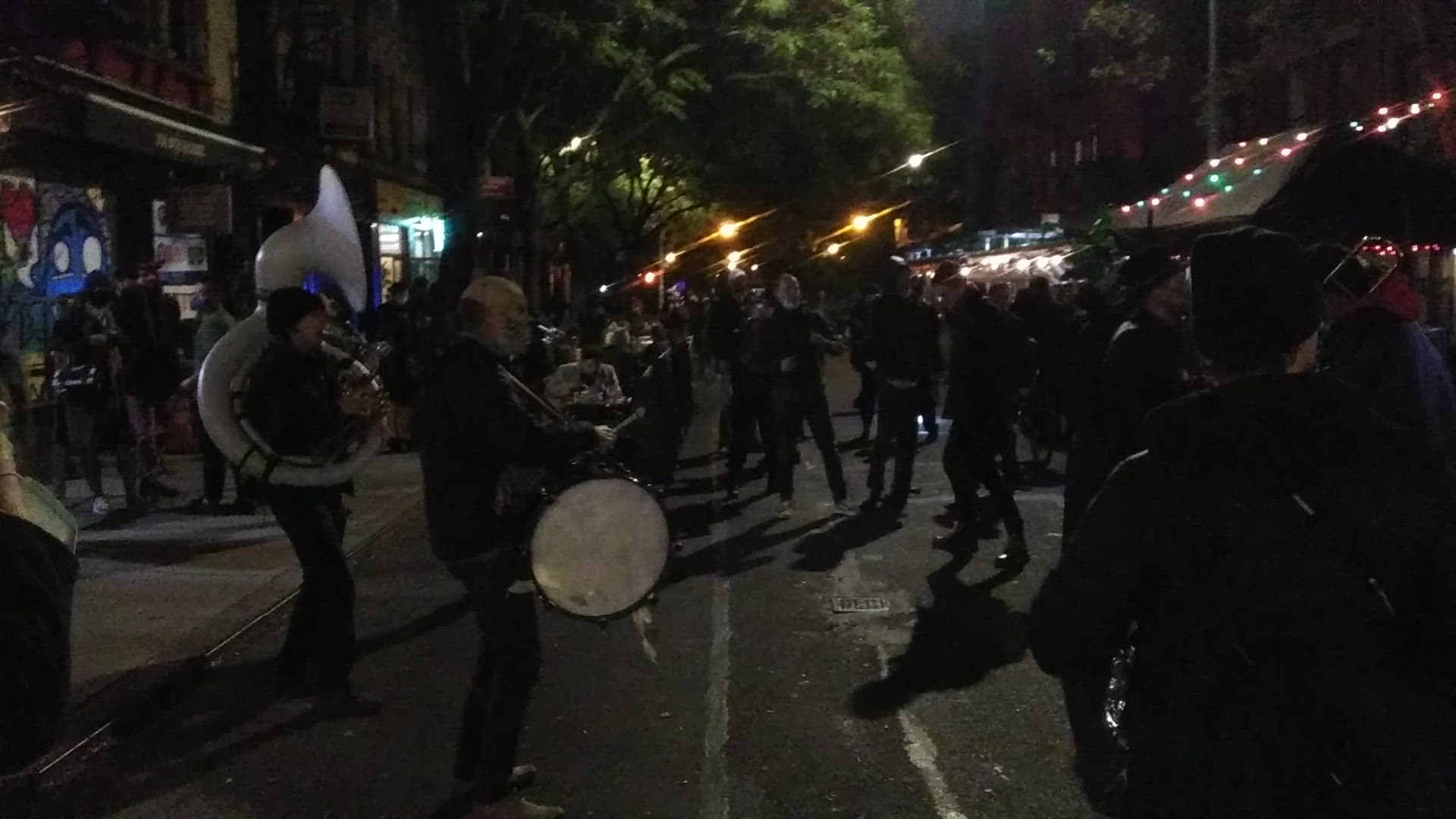 Underground Horns after Halloween in Tompkins Square Park!