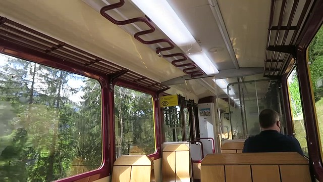 Short video - on the cog train between Lauterbrunnen and Wengen