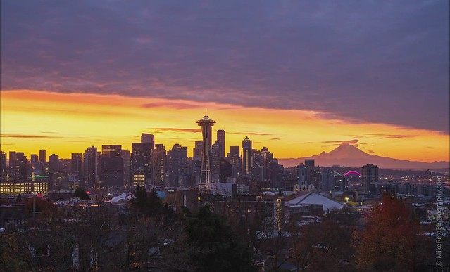 Seattle Kerry Park Sunrise Timelapse