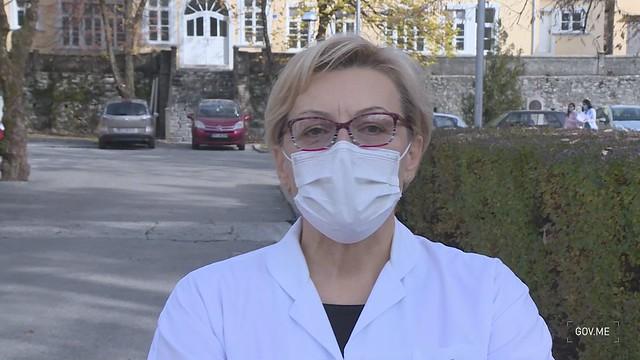 """Sonja Radojičić, direktorka Opšte bolnice """"Danilo Prvi"""" Cetinje - izjava"""