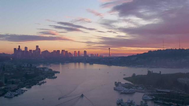 Seattle Sunset Over Lake Union