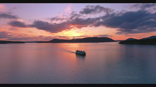 Anacortes Ferry Sunset