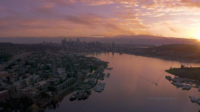 Seattle Sunset Over Lake Union