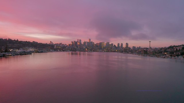Seattle Sunrise Over Lake Union