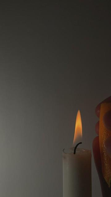 Orange Peel and Candle