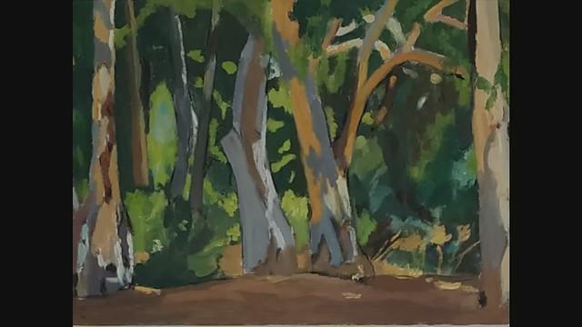 Happy new year! Talia Toeg טליה טואג ציירת אמנית ישראלית נוף נופים בטבע אימפרסיוניסטית ציור אימפרסיוניסטי ציורים אימפרסיוניסטים אמנות יוצרת עכשווית מודרנית Plein Air Painting למכירה