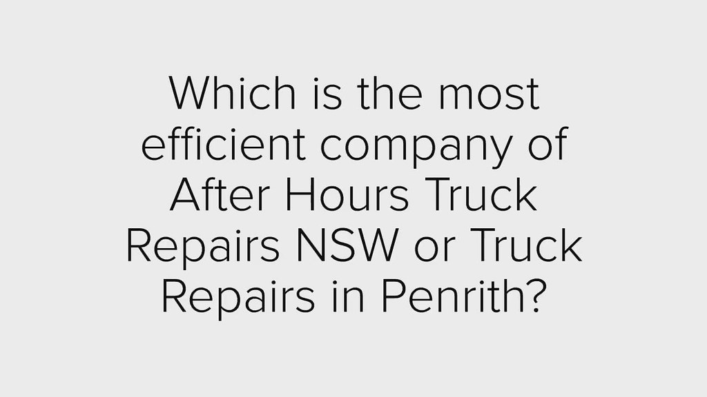 Which is the affordable company of Heavy Vehicle Repair Specialists in Arndell Park?