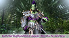 Big Orc Rider Body PlayFullMesh & -Elemental- 'Divine Halo' Aura Effect System