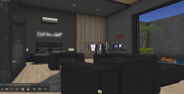 Exquisite Multiscene Scene:  Gamer's Room with indoor pool