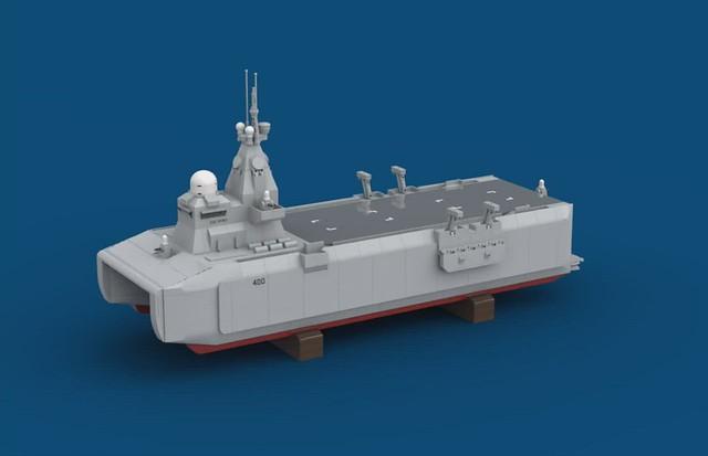 USS Spirit 3D animation