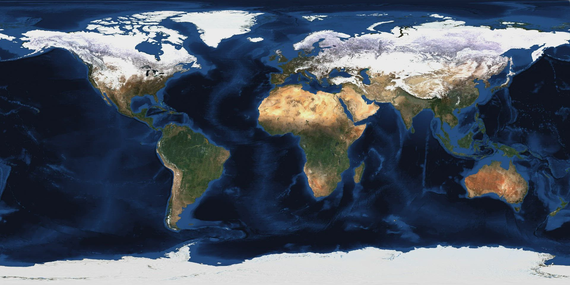 World Mosaic Time-lapse 2019 Blue Marble Background