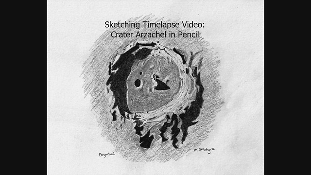 Lunar Crater Arzachel Sketching Timelapse (In Pencil!)