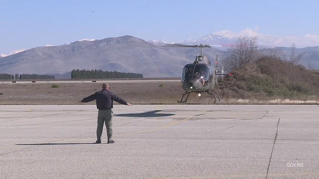 Dolazak novog helikoptera Vojske Crne Gore Bell 505 (12.02.2021.)