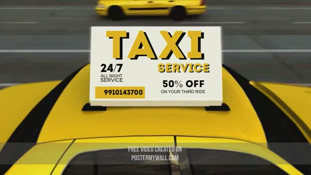 Copy of TAXI SERVICE VIDEO AD - Made with PosterMyWall