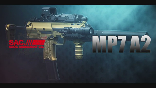 SAC(SSOC Armament Co,) MP7 A2 SMG Preview(Second Life Machinima)