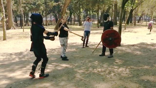 Combate Vikingo vs Kendo 'Samurai' con Bokken