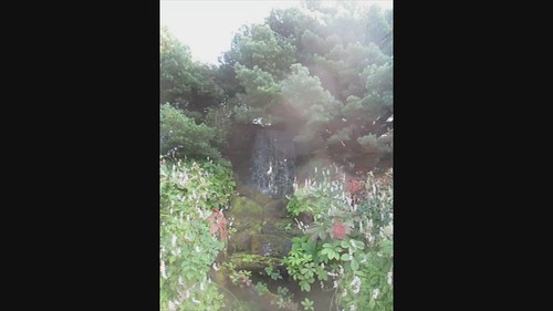 Waterfall in Edinburgh Botanic Gardens