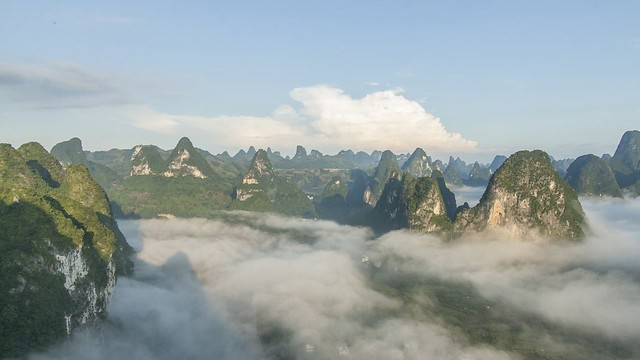 Yangshuo sea of clouds.