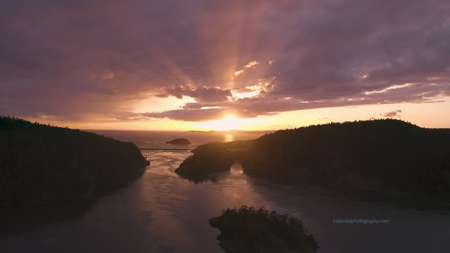 Deception Pass Sunset Mavic Pro 2