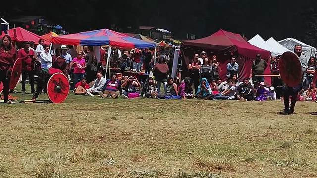 2018 Viking Shieldwall Ormbitur Festival Medieval Marquesa