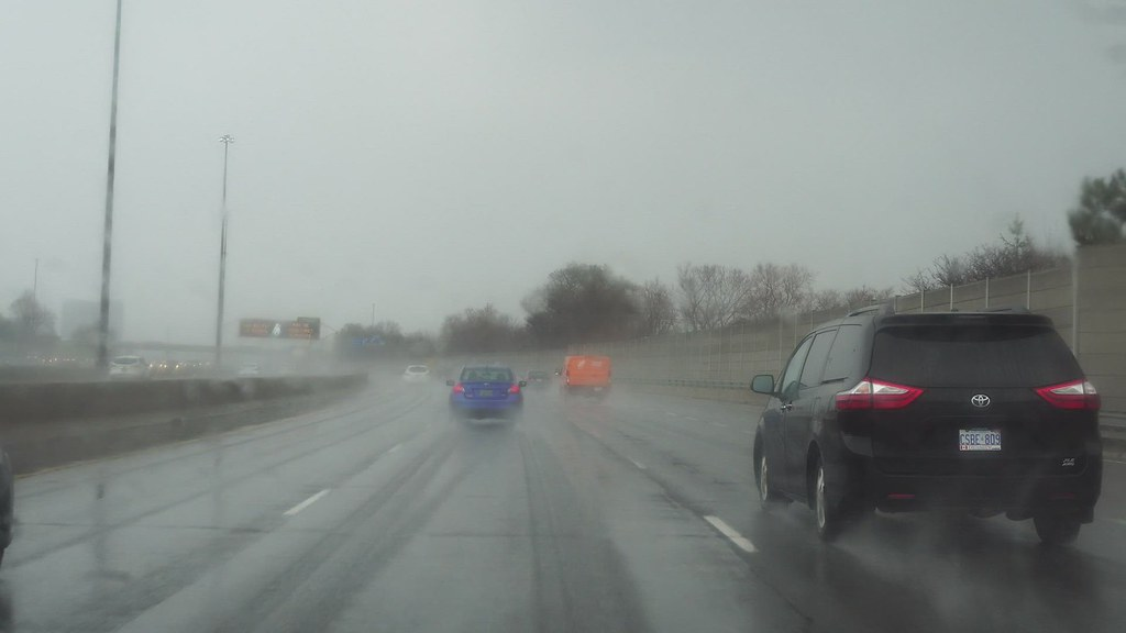 401 Eastbound in Rain