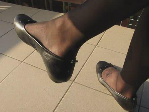 Tamaris ballet flats, shoeplay in the evening