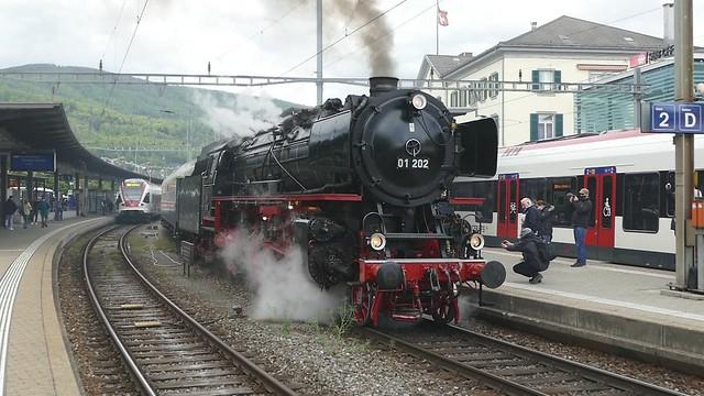 Steam Train Pacific 01 202 Olten Switzerland