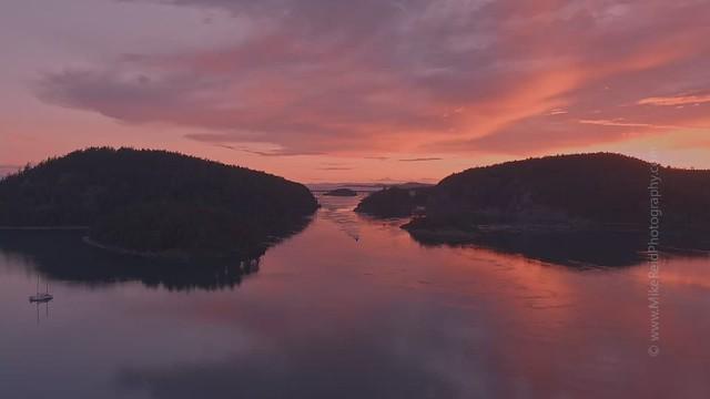 Deception Pass Sunset Boat