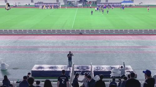 경기 후 관중들에게 인사하는 선수들 (2021 K리그 2 14R)