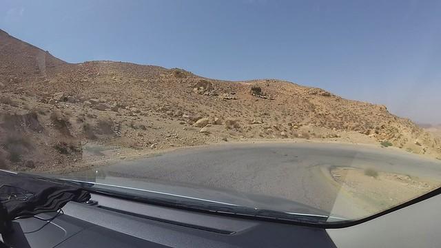 Petra back road drive ( White Tobbaco Road). 4K Recording.