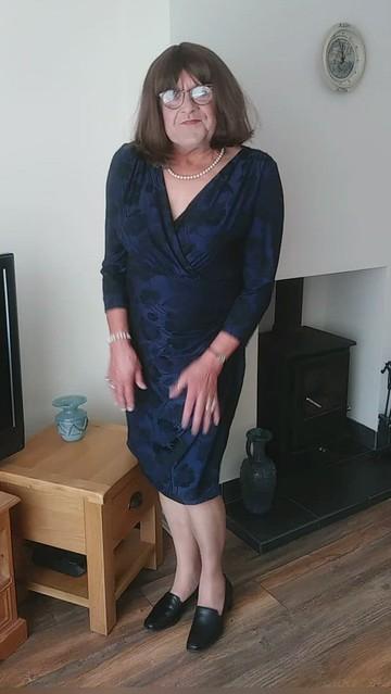 Roman Originals Midnight Blue Floral Dress