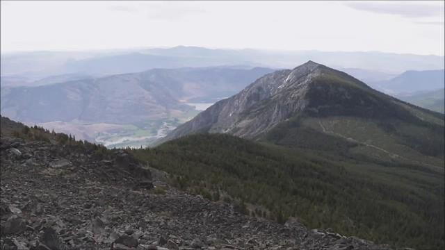 Panoramic view on Chopaka Mountain