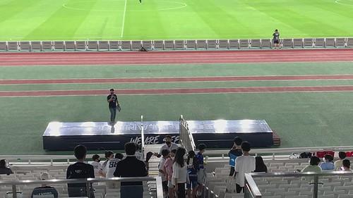 경기 후 관중들에게 인사하는 선수들 (2021 K리그 2 19R)