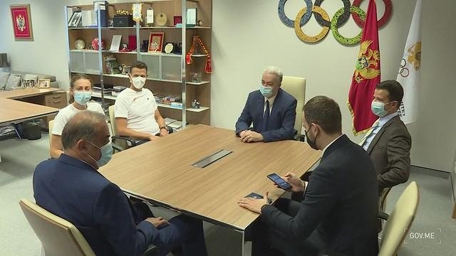Zdravko Krivokapić - posjeta Crnogorskom olimpijskom komitetu (15.07.2021.)