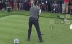 Tiger Woods Lower Body Movement in Downswing