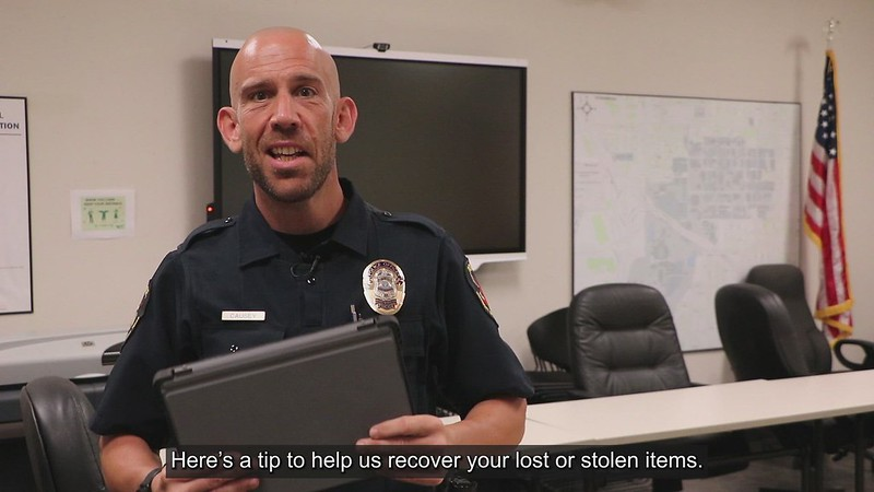 UNT Police lost/stolen items recovery video