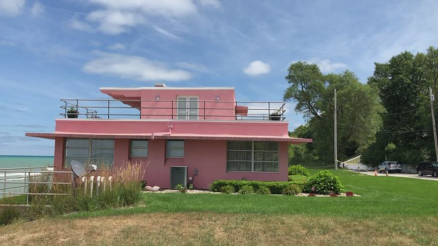 Florida Tropical House and Lake Michigan, Century of Progress Homes, Indiana Dunes National Park