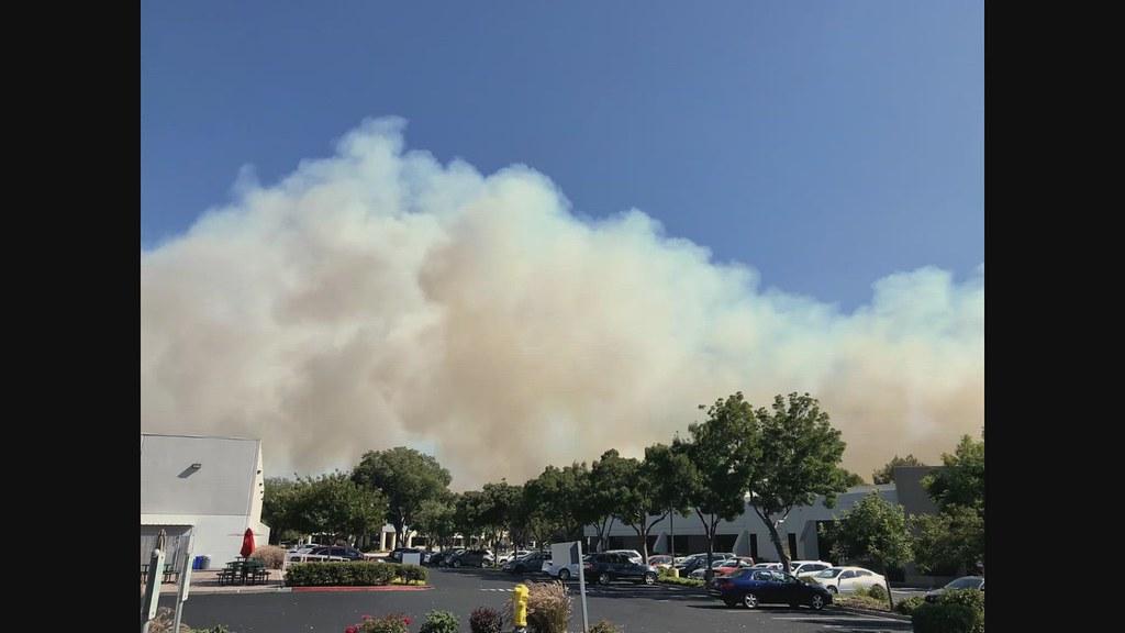 A Brushfire Erupts Along Coyote Creek (7-27-21)