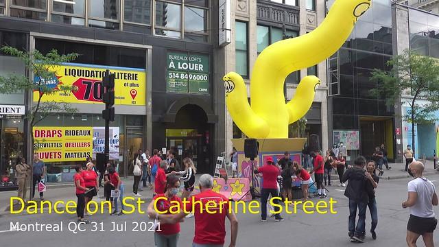 Dancing on St Catherine Street