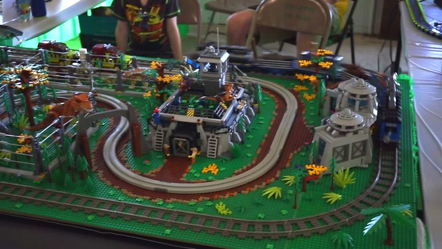 Jurassic Park Lego Display