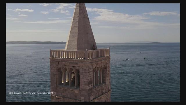 Rab Croatia - Belfry Tower - September 2021.